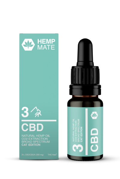 HempMate CBD Öl für Katzen, 3% CBD, 10ml