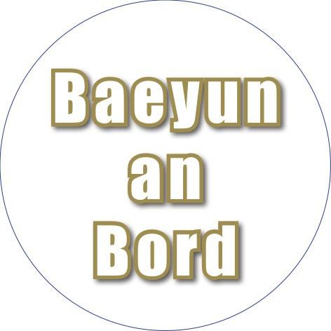 """Outdoor Aufkleber: """"Baeyun an Bord"""""""