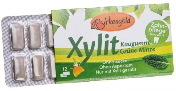 Xyligum Kaugummi Grüne Minze, 12 Stück