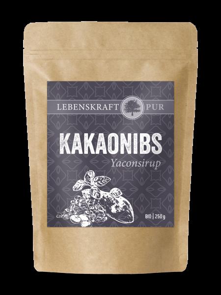 Lebenskraftpur - Bio Kakaonibs mit Yaconsirup, 250g