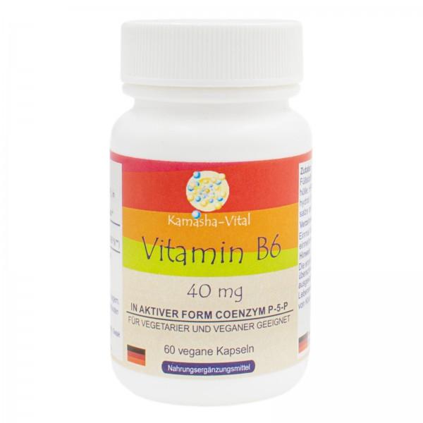 Vitamin B 6, 60 Kapseln je 40 mg
