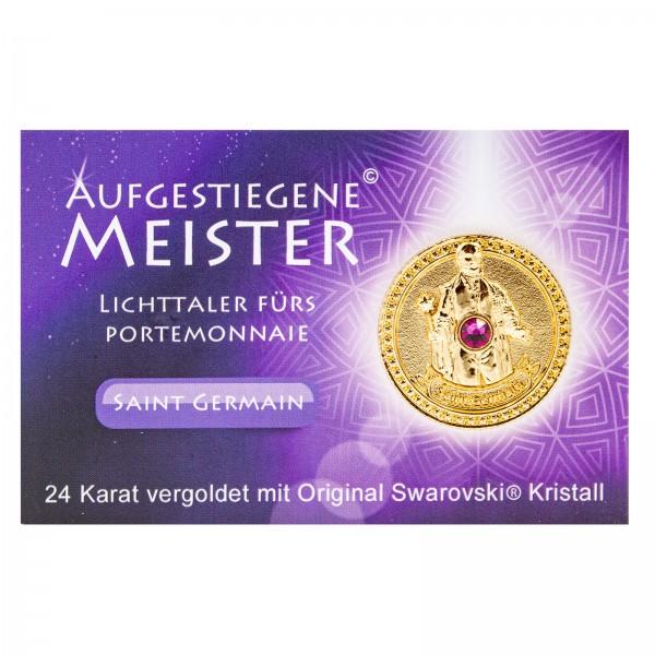 Meistertaler - Saint Germain / 24 Karat Gold mit orig. Swarovski Kristall