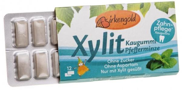 Xyligum Kaugummi Pfefferminze, 12 Stück