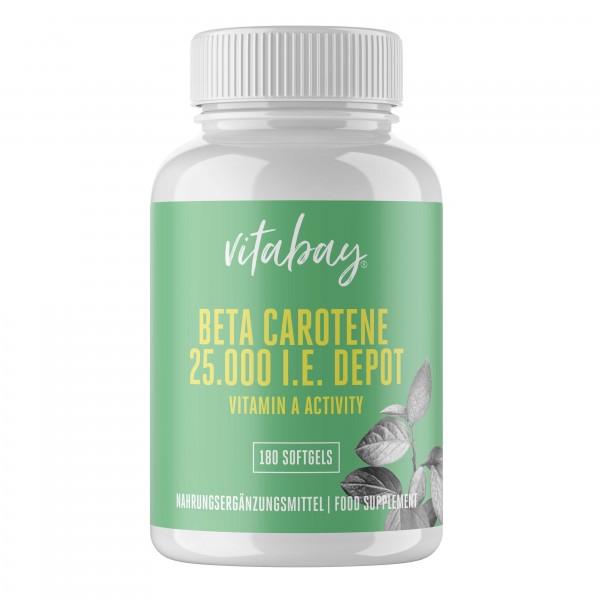 Beta-Carotin 25.000 I.E., 180 veg. Softgelkapseln