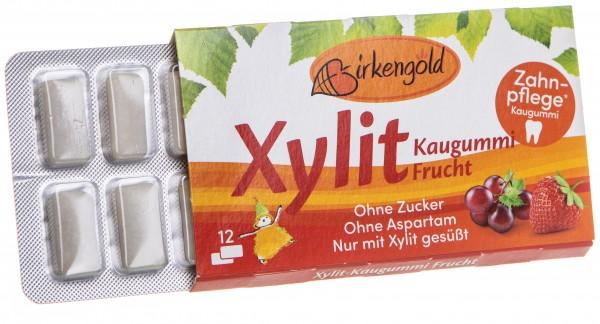 Xyligum Kaugummi Frucht, 12 Stück