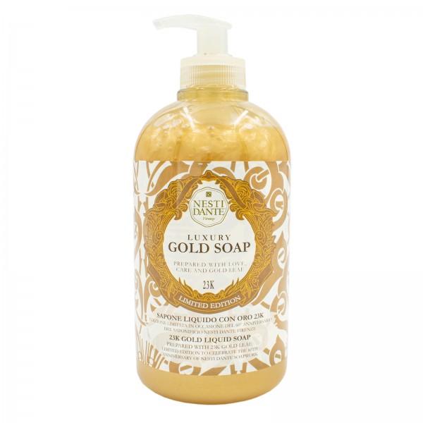 Luxury Gold Soap - Goldseife flüssig mit 23 Karat Blattgold, 500 ml