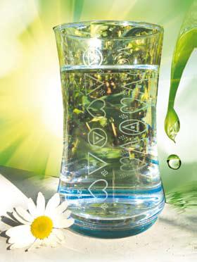 Kamasha Symbol-Glas mit Gravur, Volumen ca. 350 ml