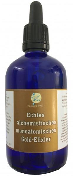 Echtes alchemistisches monoatomisches Gold-Elixier, 100 ml