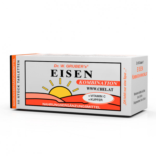 Eisen-Kombination   Eisen + Vitamin C + Kupfer   50 Tabletten