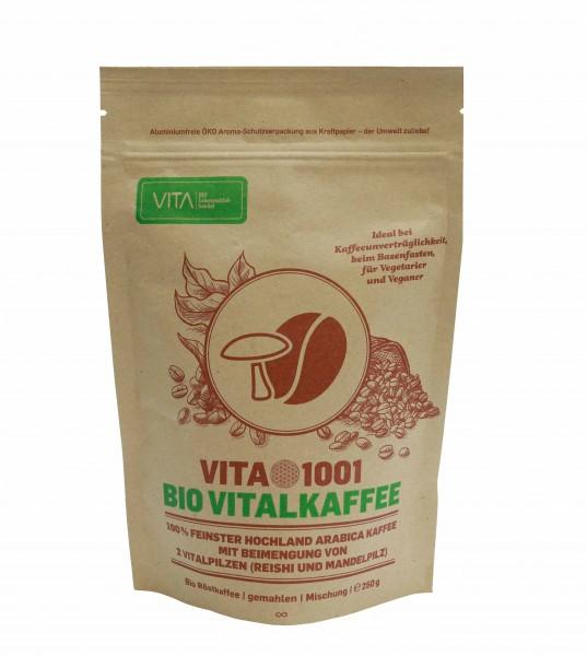 VITA1001 Bio Vitalkaffee mit Vitalpilzzusätzen, 250g