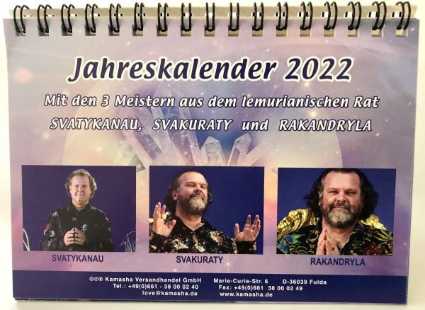 Jahreskalender 2022 mit den 3 Meistern aus dem lemurianischen Rat