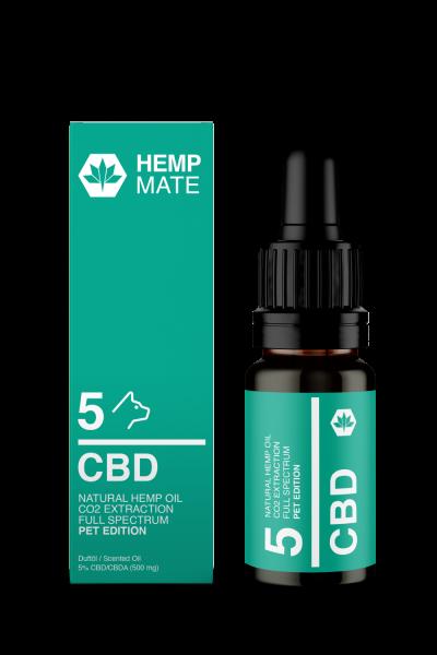HempMate CBD Öl für Hunde, 5% CBD, 10ml