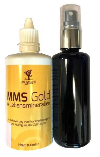 MMS Gold Lebensmineralien 100 ml + GRATIS Sprühflasche zum Befüllen