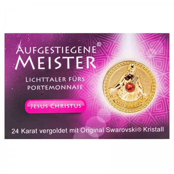 Meistertaler - Jesus / 24 Karat vergoldet mit orig. Swarovski Kristall