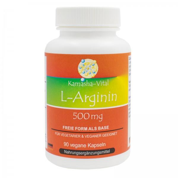 L-Arginin, 90 Kapseln je 500 mg