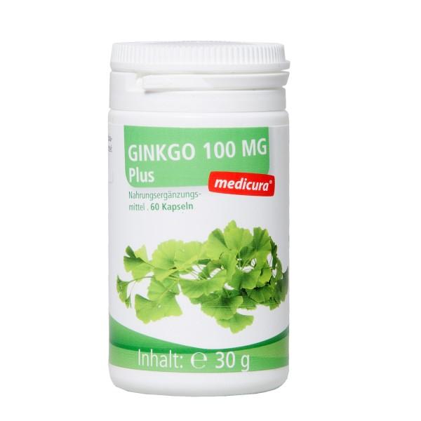 Ginkgo 100mg Plus - Nahrungsergänzungsmittel mit Grüntee