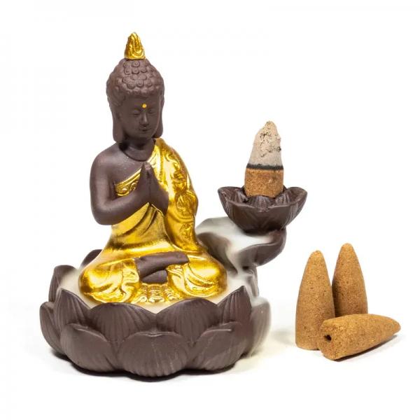 """Räucherwasserfall / Rückflussbrenner """"Buddha"""""""