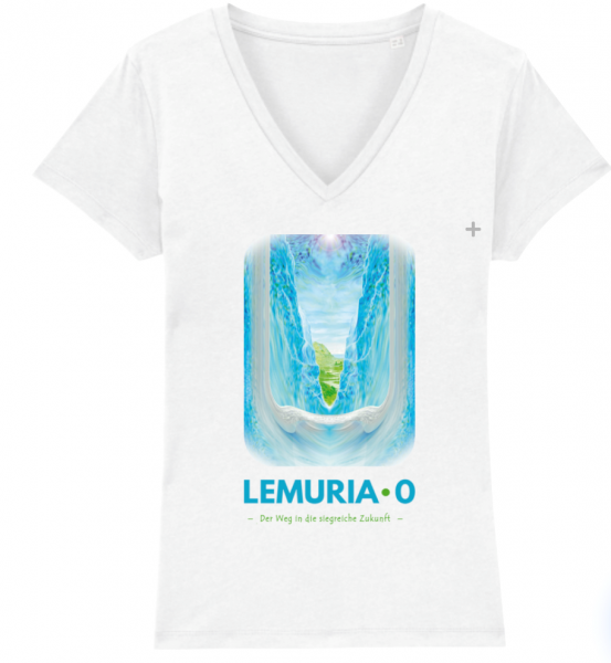 """T-Shirt mit V-Ausschnitt """"Lemuria Null"""", verschiedene Farben"""