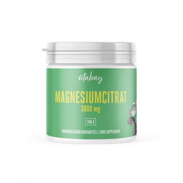 Vitabay Magnesiumcitrat Pulver, 200g