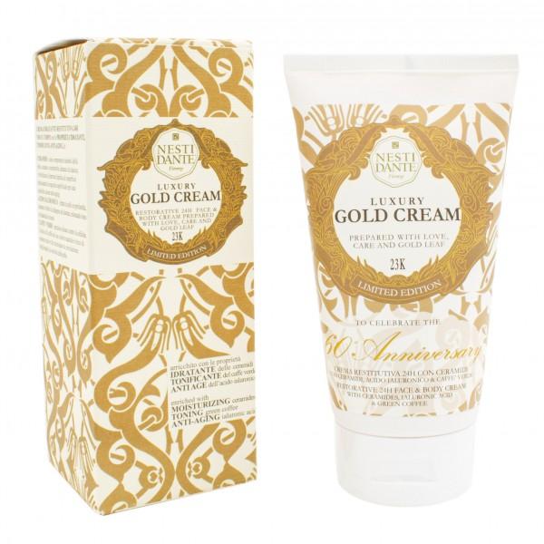Luxury Gold Cream - Gesichts- und Körpercreme mit 23 Karat Blattgold, 150 ml