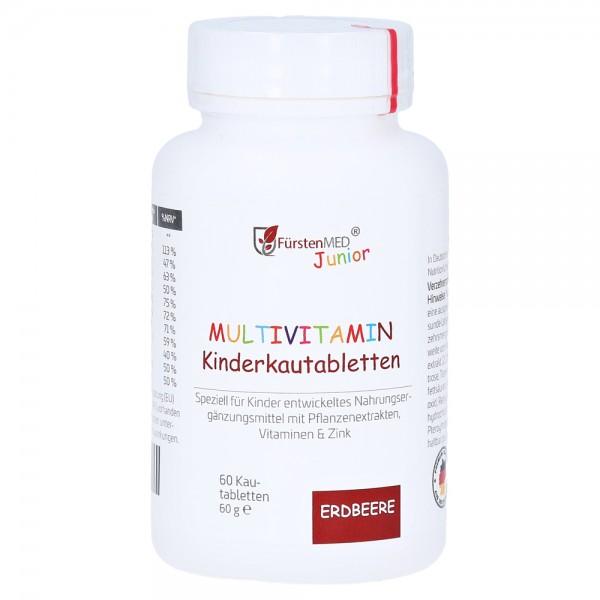 Multivitamin Kautabletten für Kinder, Erdbeergeschmack