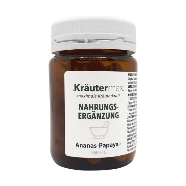 Kräutermax Ananas-Papaya Enzym, 50 Kapseln